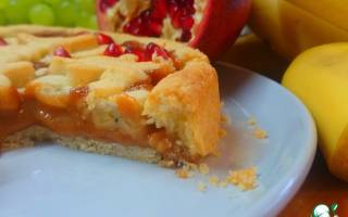 Пирог с бананом и сгущенкой