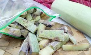 Запеканка из замороженных кабачков