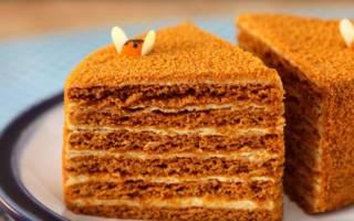 Торт рыжик с медом