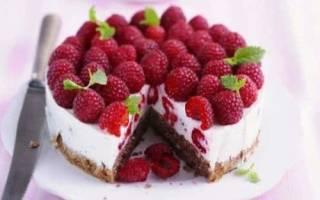 Рецепт летний малиновый торт