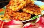 Оладьи из кабачков с колбасой и сыром