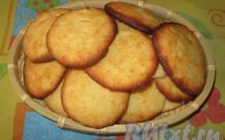 Творожно лимонное печенье