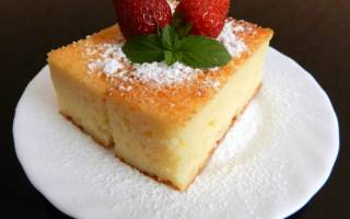 Пирог манник на молоке рецепт