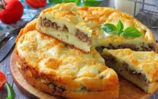 Пирог на майонезе с картошкой