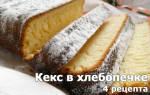 Рецепт кекса для хлебопечки