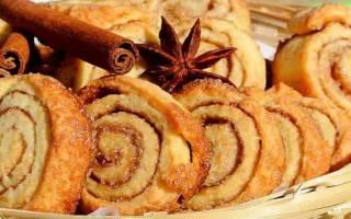 Печенье с корицей и сахаром