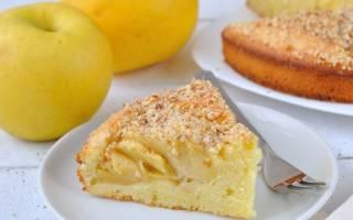 Пирог яблочно банановый