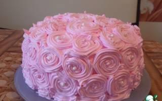 Украшение торта мокрым безе