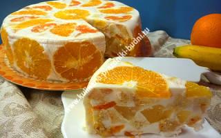 Сметанно желейный торт