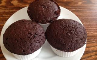 Шоколадный кекс с какао