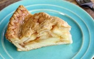 Пирог без яиц с яблоками