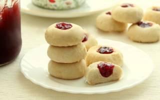 Рецепт печенья на маргарине с вареньем