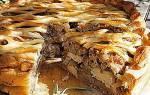 Песочный пирог с грибами