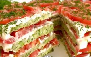 Пирог из кабачков рецепт слоями