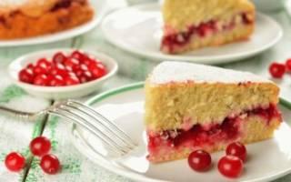 Пирог с калиной рецепт