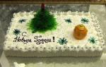 Торт кремовый новогодний