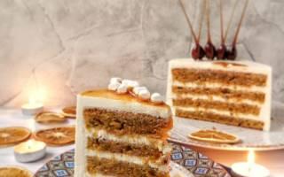Торт морковный с сырным кремом