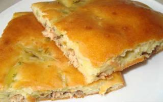 Рыбный пирог из сайры рецепт
