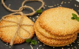 Печенье с кунжутом и семечками