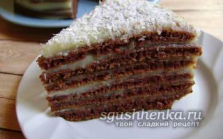 Торт на сковороде без сгущенки