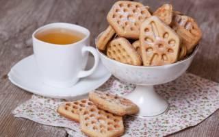 Рецепт печенья в вафельнице треугольниками