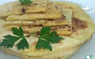 Тесто на хачапури на сковороде