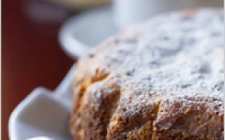 Тертый пирог на кефире
