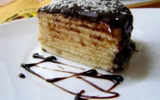 Торт на сковороде на сметане