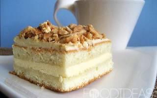 Торт бисквитный с масляным кремом