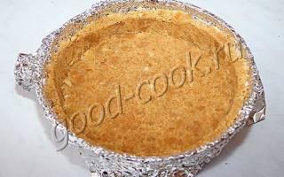 Пирог из песочного печенья