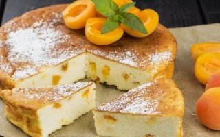 Пирог открытый с абрикосами