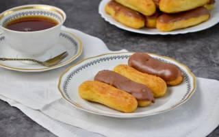Рецепт эклеров со сгущенкой
