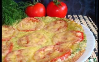 Пицца с кабачками и помидорами