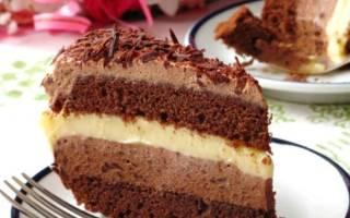 Торт лимонно шоколадный