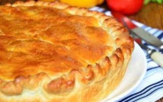 Пирог постный с картошкой