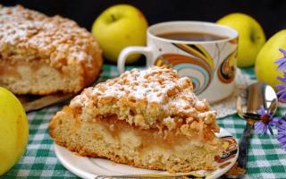Яблочный пирог с тертыми яблоками