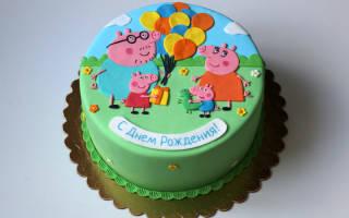 Свинка пеппа торт из мастики