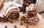 Шоколадная колбаса из печенья