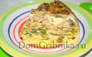 Пирог перевертыш с грибами