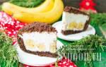 Норка крота торт с бананами
