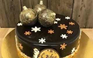 Торт новогодний шар