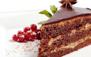 Постный торт с фруктами