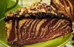 Торт зебра простой рецепт