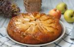 Пирог перевертыш с яблоками и карамелью