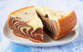 Пирог зебра самый простой рецепт