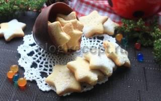 Песочное печенье с творогом на скорую руку