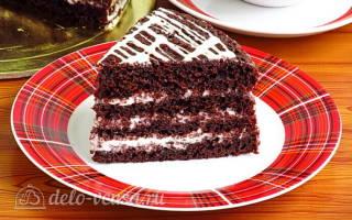 Торт черемуховый на сметане