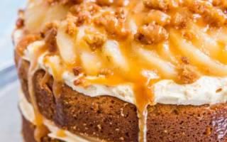 Торт груша карамель