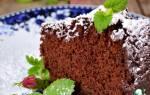 Рецепт постного кекса с какао