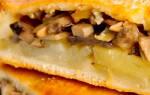 Пирог с груздями и картошкой